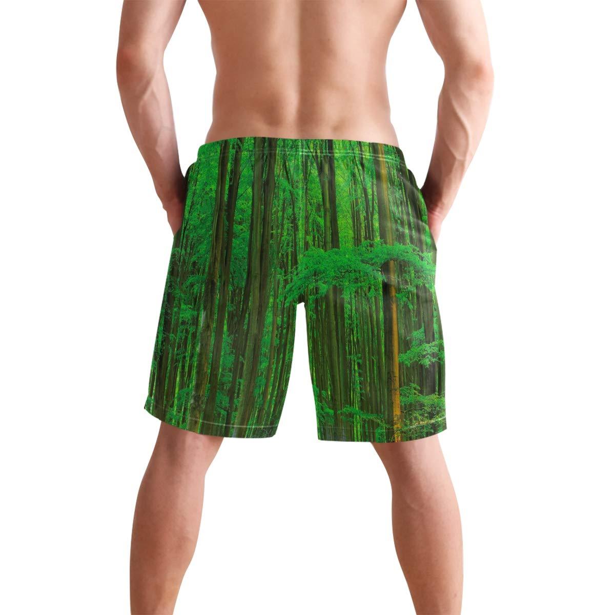 NaNa Home Bluebell Wood Summer Dream Mens Swim Board Shorts Summer Beach Short Suits