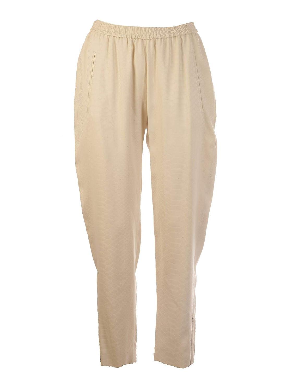 Brand Size 44 STELLA MCCARTNEY Women's 358300SMA039201 Beige Viscose Pants