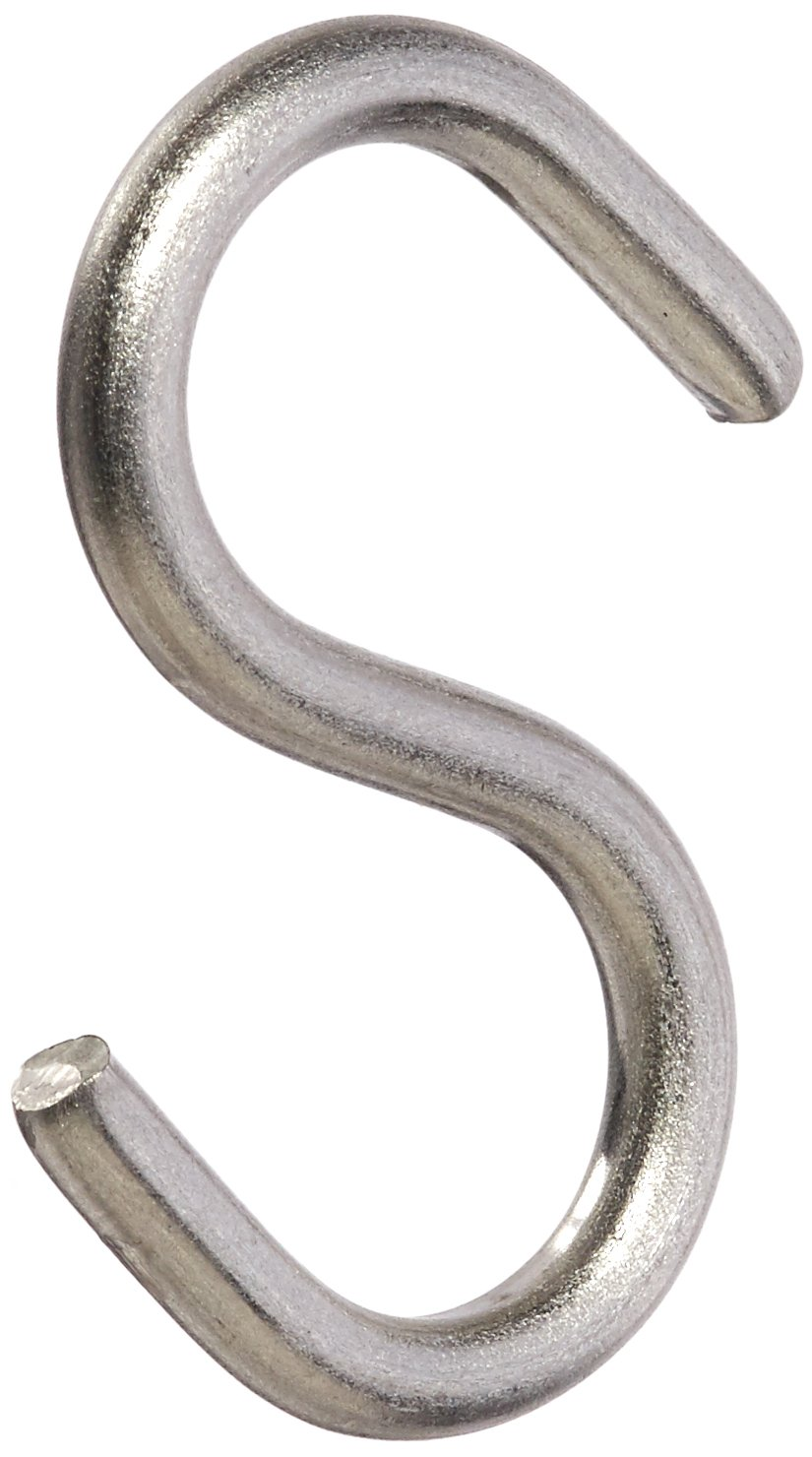 Hard-to-Find Fastener 014973207106 Medium Wire''S'' Hooks, 1-1/2, Piece-12