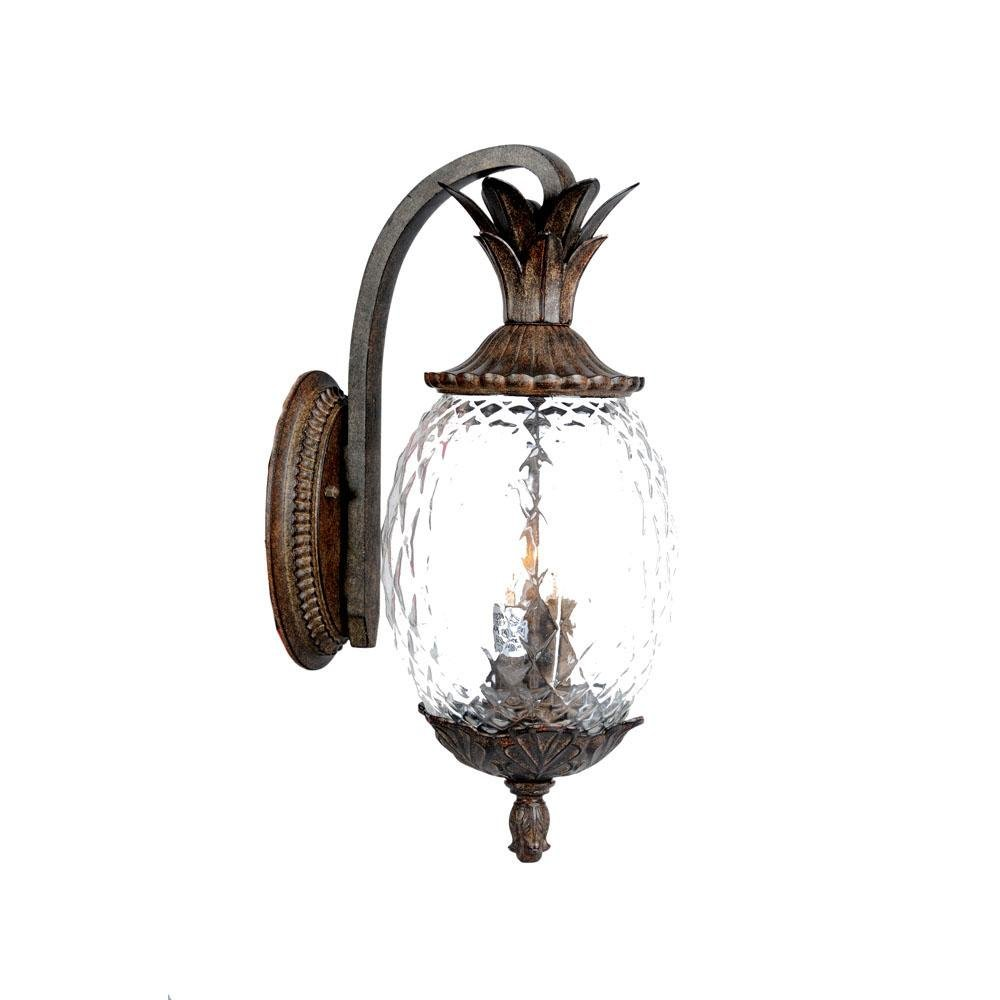 Acclaim 7512BC Lanai Collection 3-Light Wall Mount Outdoor Light Fixture, Black Coral
