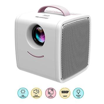 YUTALOW Proyector LED Mini Proyector Infantil HD LED 1080P Soporte ...