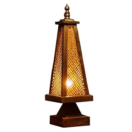 Lámpara de escritorio clásica asiática Lámpara de mesa hecha a ...