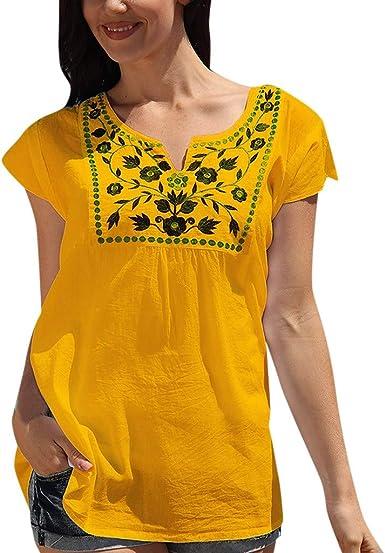 Berimaterry Camisetas Moda Mujer Casual Lentejuelas de Manga Corta con Cuello en v Tops Blusa Casual Camiseta Verano Mujer Blusa Moda Camiseta con Estampado De Corazones Tops Casuales Camisa Camiseta: Amazon.es: Ropa