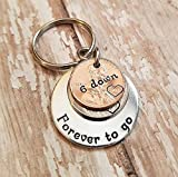 6 Down Forever To Go 2012 Year Nickel and Lucky Penny Key Chain 6th Anniversary Gift