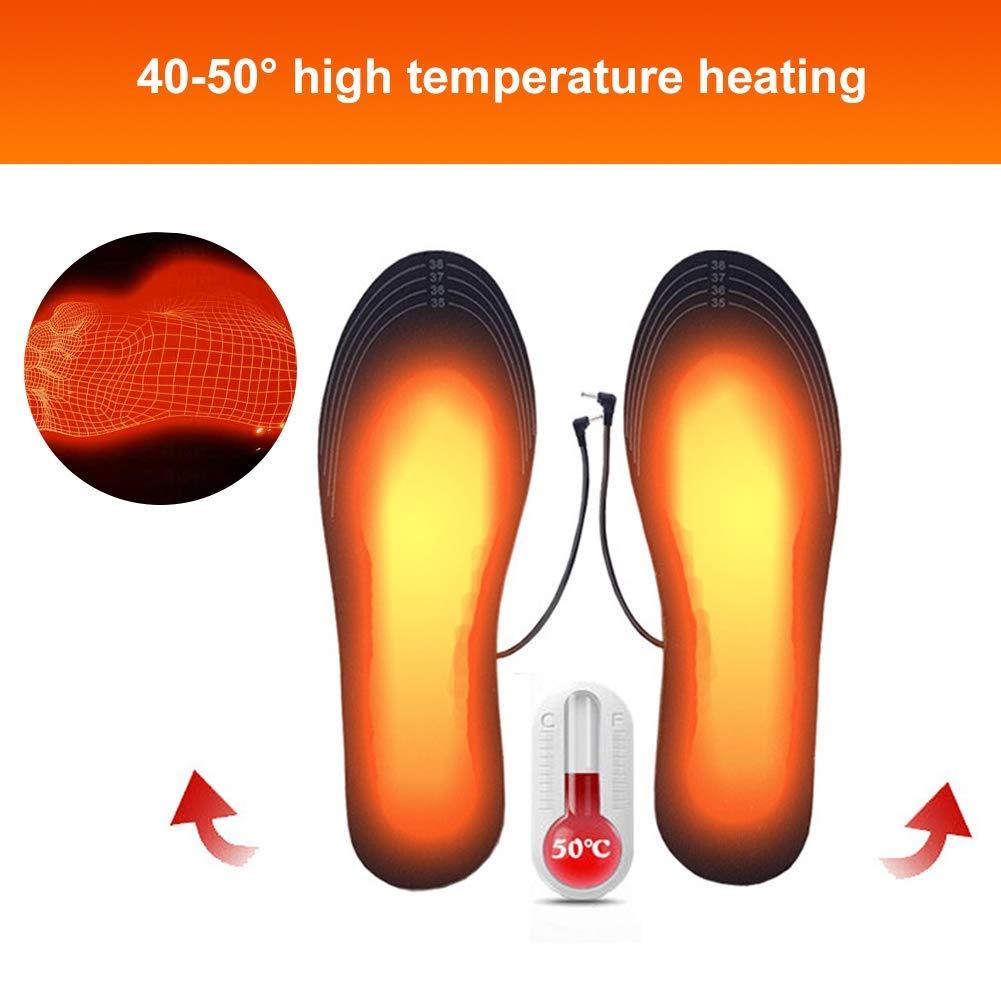 plantillas de invierno tama/ño: 40-44 cortado a medida-F10 plantillas de zapatos calentadas calentadores de pies Plantillas calentadas plantillas de calentador de pies calentadas recargables