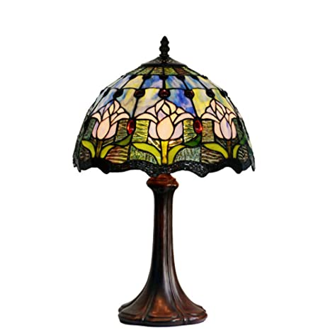 Tiffany style table lampbedroom bedside decorative table lamps tiffany style table lampbedroom bedside decorative table lampsupscale classic tulip table aloadofball Choice Image