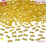 2018 Gold Confetti Pack of 1000, 1.5 Oz | Great for Table Decorations | Graduations Party Supplies | Gold Confetti for Graduations Decorations 2018