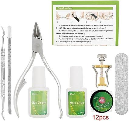 Kit Corrección de Uñas de dedos encarnados 8pcs /Set de manicura y pedicura de acero inoxidable Fijador de pedicura Herramienta de recuperación de uñas cuidado de pies(24pcs): Amazon.es: Belleza