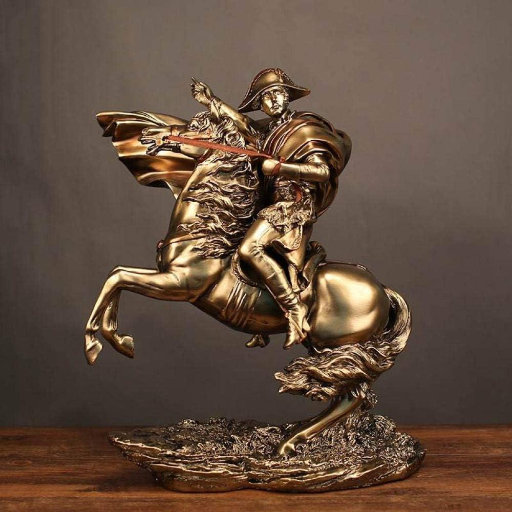 LOSAYM Escultura Decoración Estatuas Figuritas Estatuas Figuritas Decoración Estatua De Escultura Retro De Estilo Medieval De Resina Montando Un Caballo para Comandar Napoleón Creativo Muebles para
