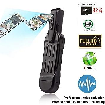 Hangang Mini Bolígrafo Cámara Oculta Espía, Video Cámara Grabadora de Vídeo HD Grabadora de Reunión Grabador Cámara de Video de Seguridad Videocámara con ...