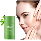Green Tea Stick Mask Purifying Clay, Deep Clean Pore, Improves Skin,for All Skin Types Men Women, Removing Blackhead face mas
