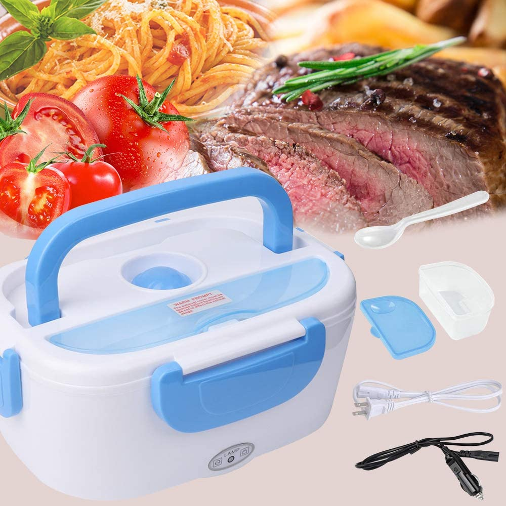 Electric Lunch Box - #HAPPY HALLOWEEN# Toursion Portable Food Heater Car and Home Dual Use with Removable Stainless Steel 304 Container & PP Removable Container Food Grade Material 110V&12V