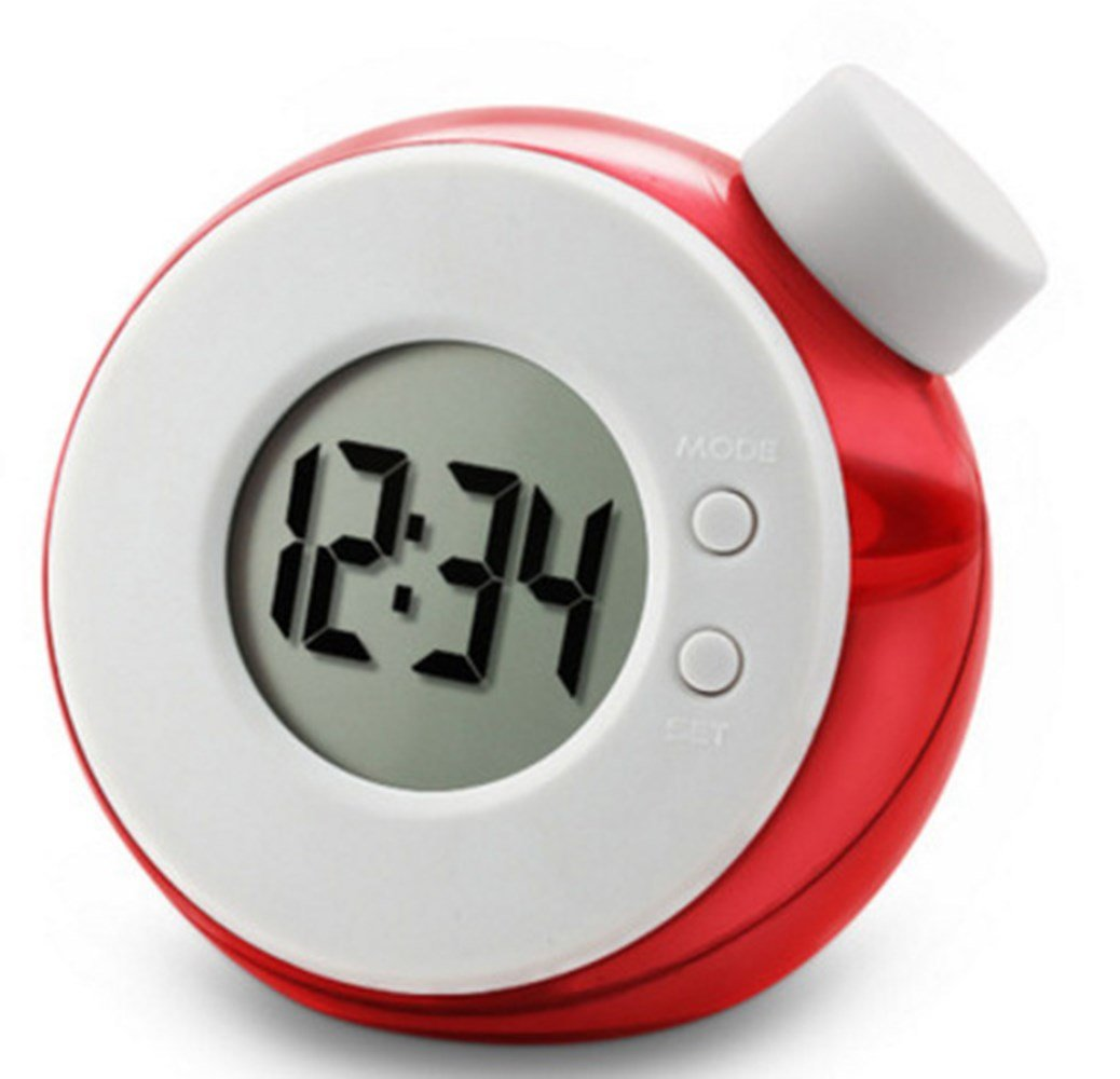 BULABULAkkk Water Power Reloj Despertador Creativo Smart Water Magia Elemento Agua Power Generation Reloj Alarma,Rojo: Amazon.es: Hogar