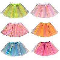 Girls Ballet Tutu Kids Birthday Princess Party Favor Dress Skirt Set of 6