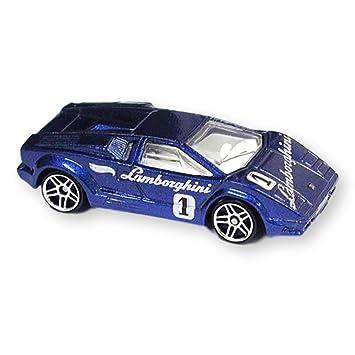 Hot Wheels 2001 130 25th Anniversary Lamborghini Countach Pr 5 Blue
