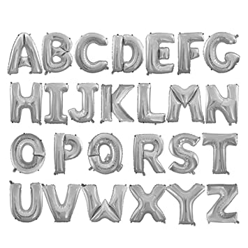 BESTOYARD Globos de Helio en Forma de Letras de 26 Alfabeto ...