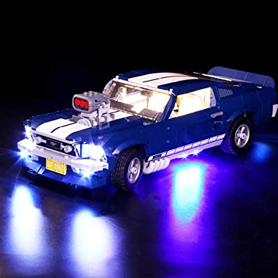 Vonado Lighting Kit for Lego 10265 Ford Mustang, DIY Light Set Creative Race Car Building Blocks Toys Home Indoor Christmas to Friends Children Brother(Not Include The Lego Set): Toys & Games