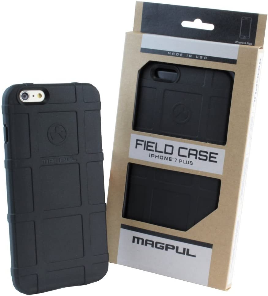Phone Case Compatible with Apple iPhone 7 Plus / iPhone 8 Plus, with TJS [Tempered Glass Screen Protector] Magpul [Field] MAG849-BLK Polymer Protector Cover Retail Packaging (Black)