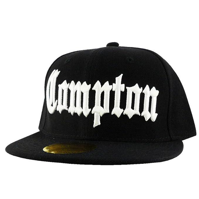 38ae07c95dc7c Amazon.com  CORRUPTION Black Flat Peak Snapback Baseball Cap  Clothing