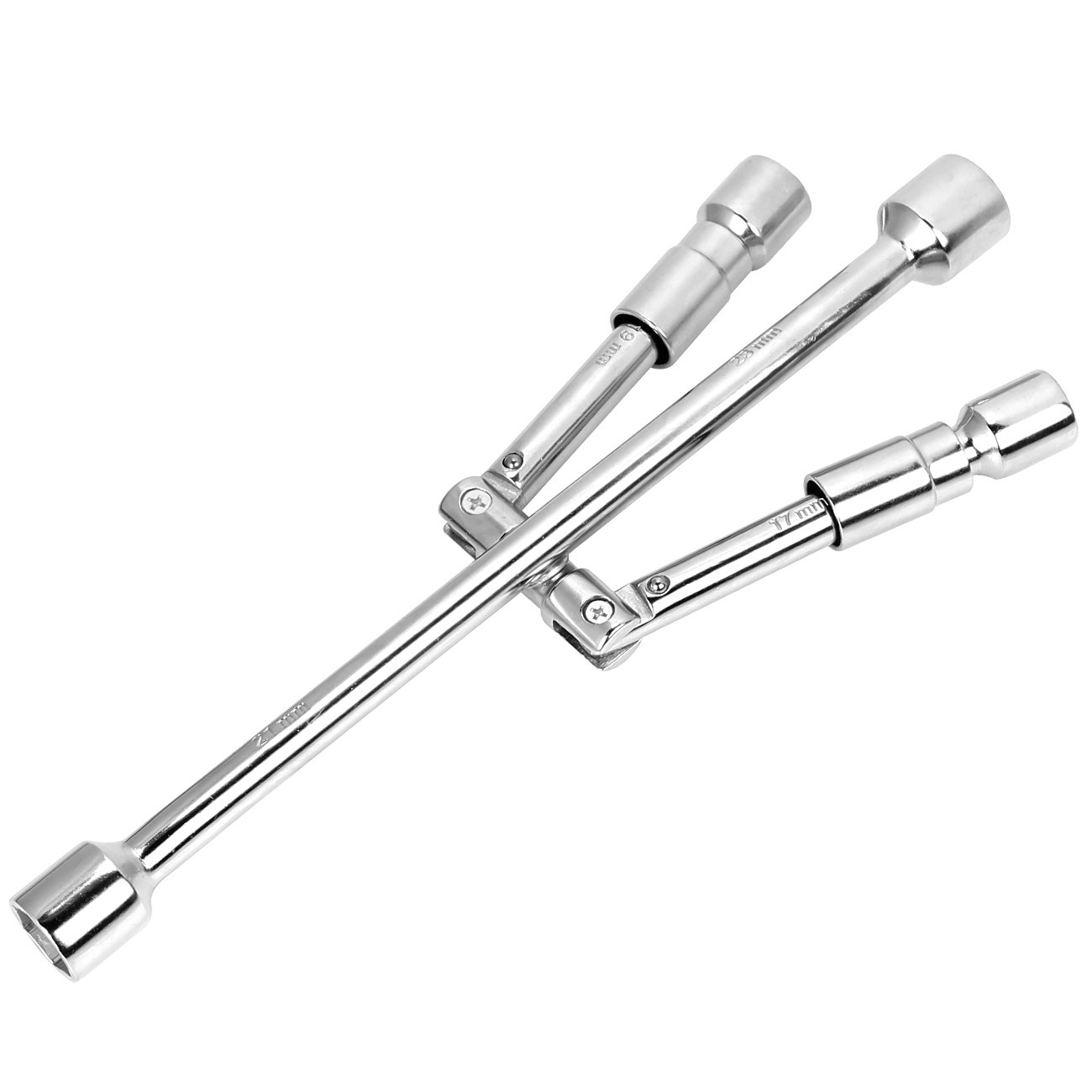 TONDA 14'' Folding Lug Wrench 4-Way Cross Wrench 17, 19, 21, 23mm