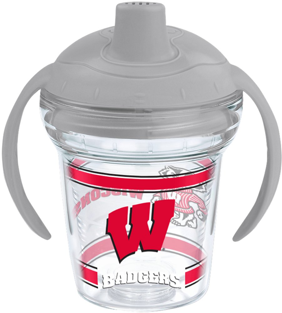 Tervis 1202352 Ncaa Wisconsin Badgers Sippy Cup With Lid 6 oz Clear