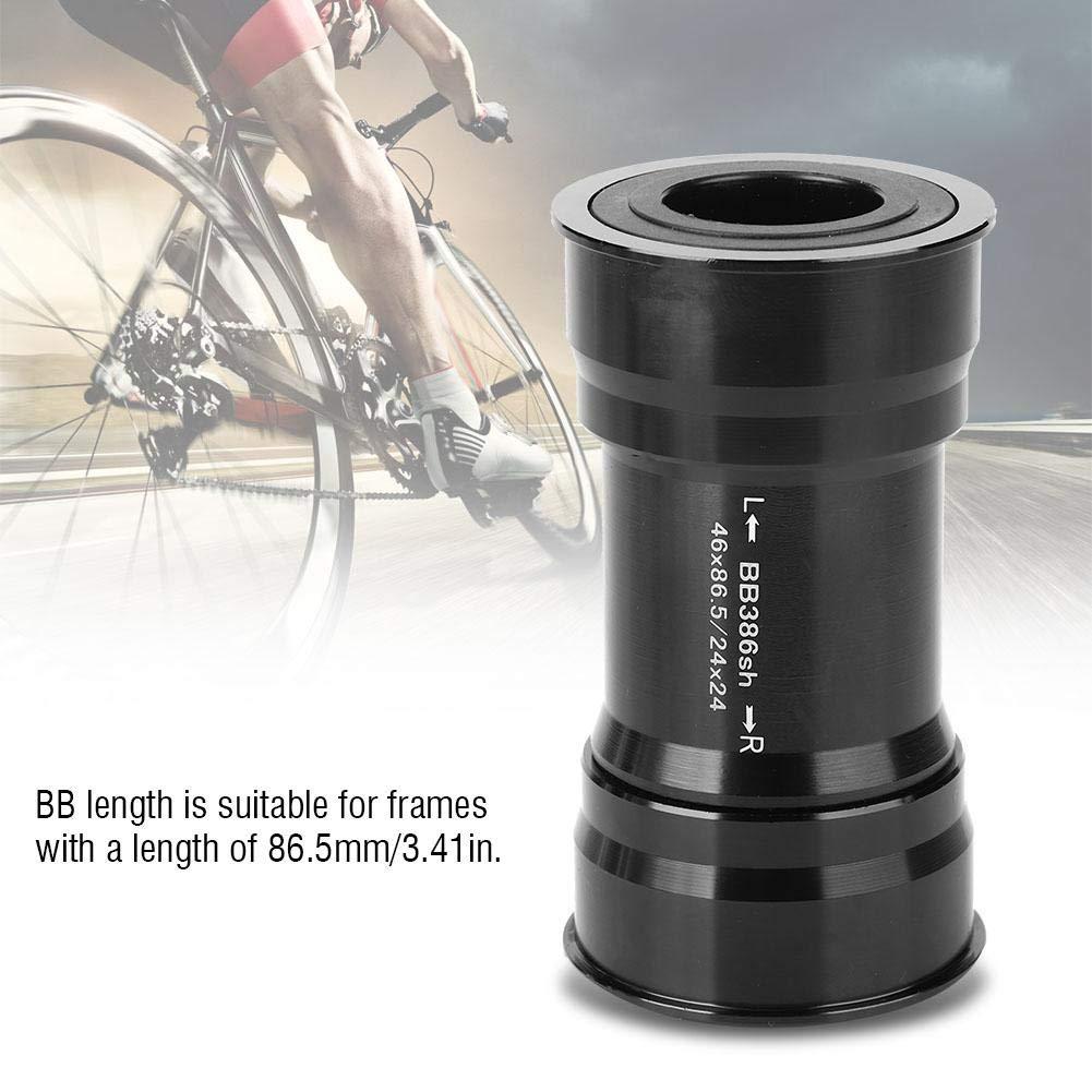 Pasamer BB386 24mm Press Fit Bearing Brackets Inferiores para bielas Mountain Road Bike Ciclismo Accesorio Negro