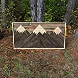 Cheap Reclaimed Mountain Wall Art