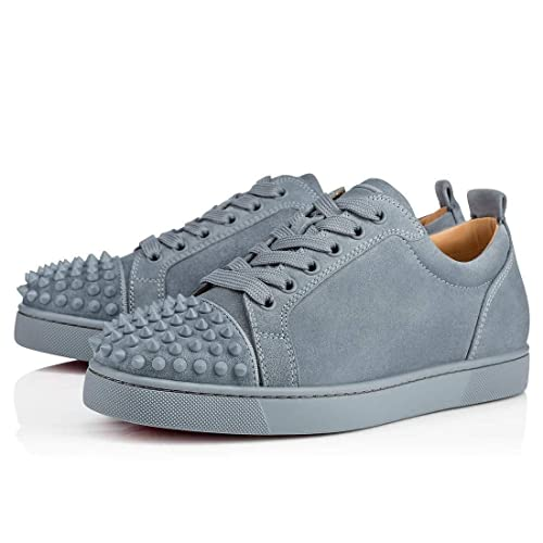 b34a7d02a1a Amazon.com | Christian Louboutin Louis Junior Spikes Veau Velours ...