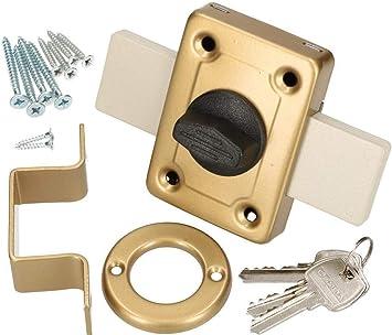 KOTARBAU® - Cerradura de 140 mm, cerradura de caja, cerradura, cerradura de puerta, cerradura adicional para puerta, cerradura de garaje, cerradura de puerta, color dorado: Amazon.es: Bricolaje y herramientas