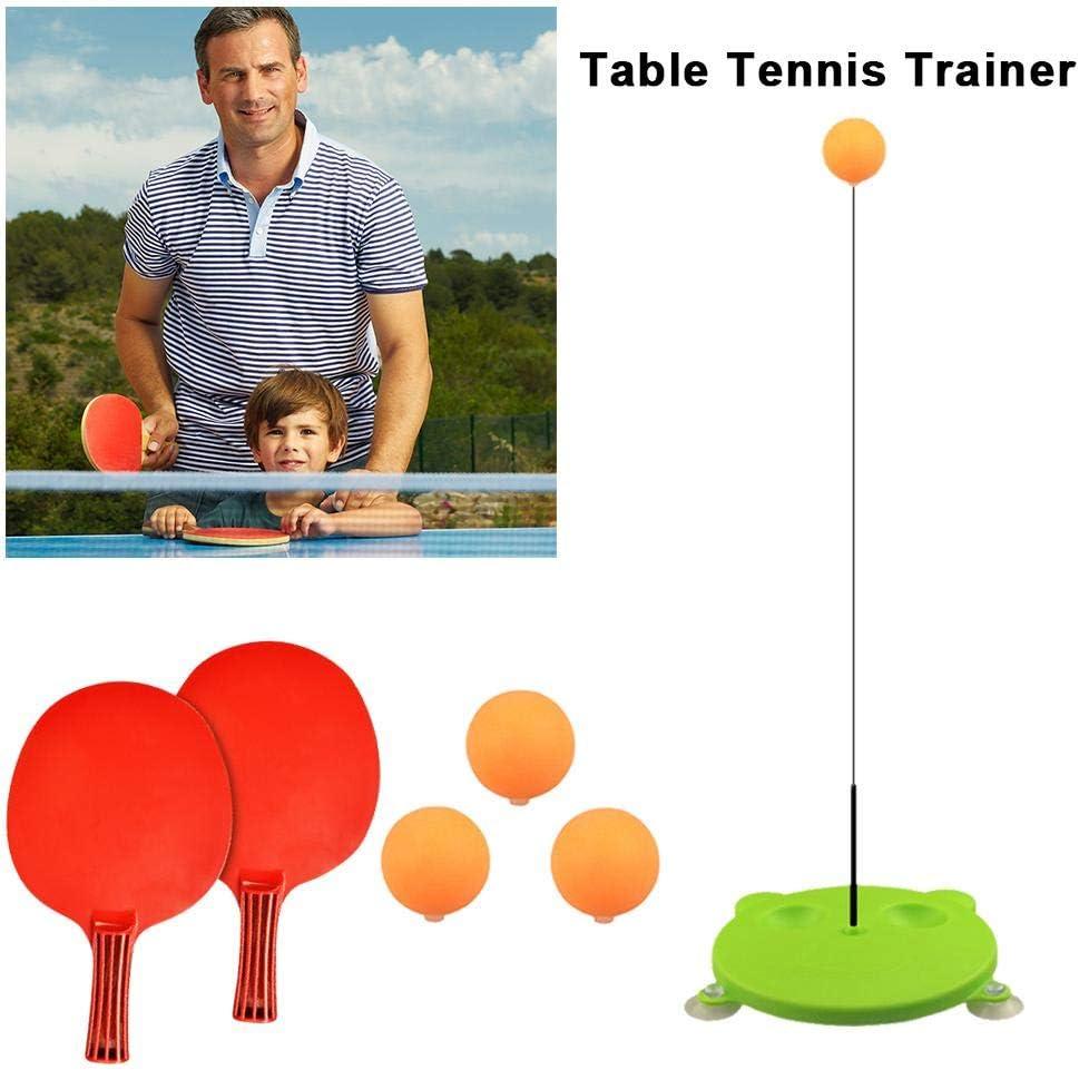 Ecisi Entrenador de Tenis de Mesa Premium con vástago Suave Juego de Ping-Pong portátil para Auto-Entrenamiento Descompresión de Tiempo Libre Juegos Infantiles al Aire Libre en Interiores