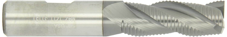 3 Flutes 2.5000 Overall Length 0.3750 Shank Diameter TiCN Monolayer Finish Melin Tool EFP Cobalt Steel Square Nose End Mill 35 Deg Helix 0.3750 Cutting Diameter Roughing Cut