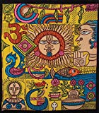 Cultural Intrigue Luna Bazaar Sun King Bohemian Tapestry, Wall Hanging, and Bedspread (Large, 7 X 8 Feet, 100% Cotton, Fair Trade Certified)