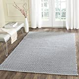 Safavieh Montauk Collection MTK717H Handmade Flatweave Ivory and Navy Cotton Area Rug (6' x 9')