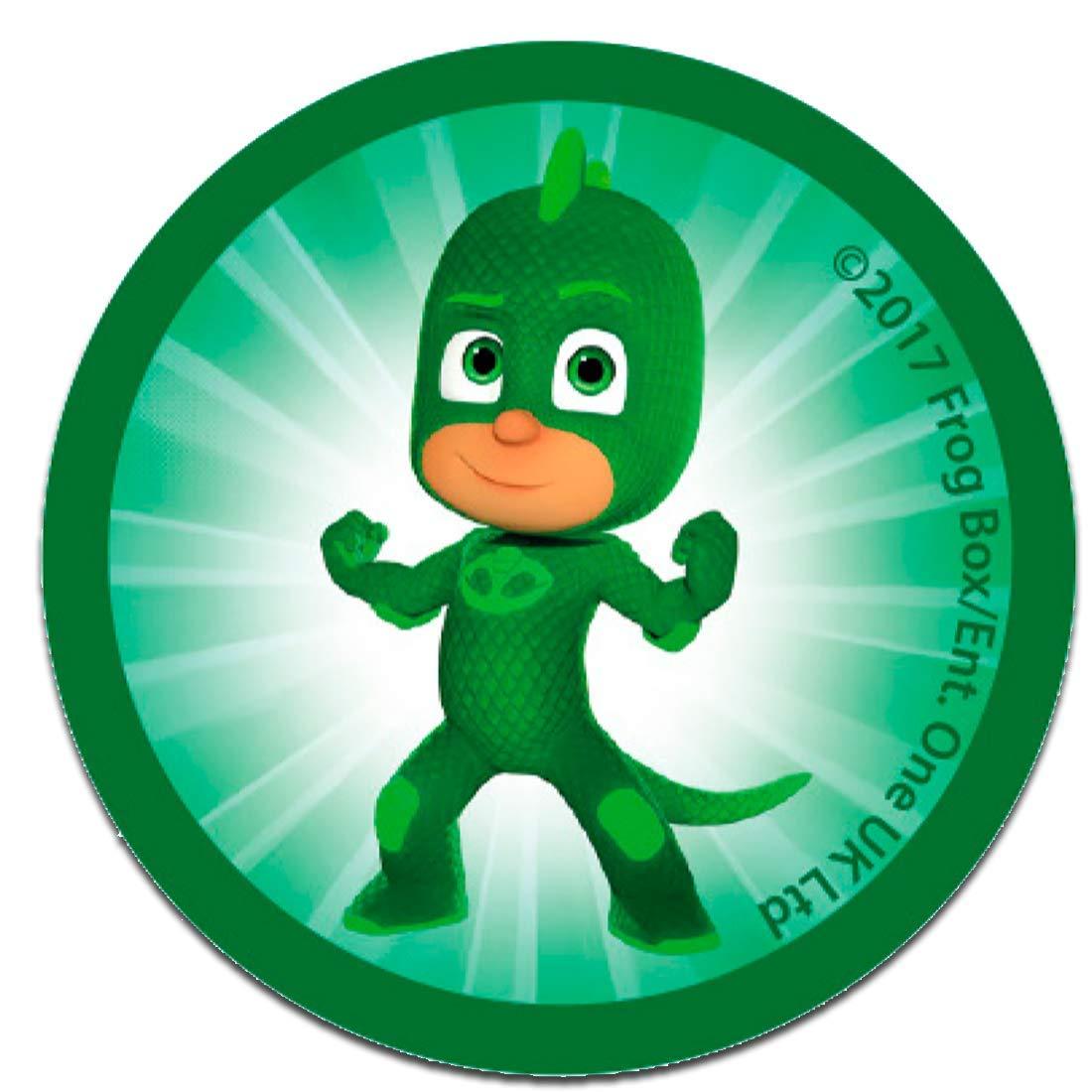 Parches - PJ MASKS Héroes en pijamas GEKKO Disney - verde - 6,2 x 6,2 cm - by catch-the-patch termoadhesivos bordados aplique para ropa: Amazon.es: Hogar