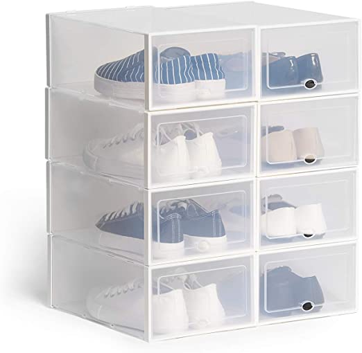 Hapilife Cajas de Zapatos Apilable Plástico Transparente: Amazon ...