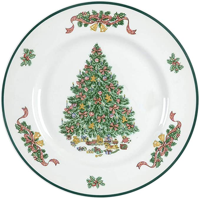 shabby chick Merry Christmas Tree Dishes England Vintage farmhouse Presents Johnson Brothers decorations English country