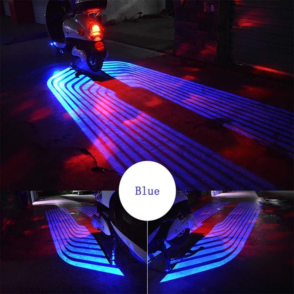 A-TSWB Auto Universal dekoratives Licht f/ührte Courtesy Angel Wings Ghost Shadow Cool Projektor Licht Auch geeignet f/ür Motorrad,red,2Pcs