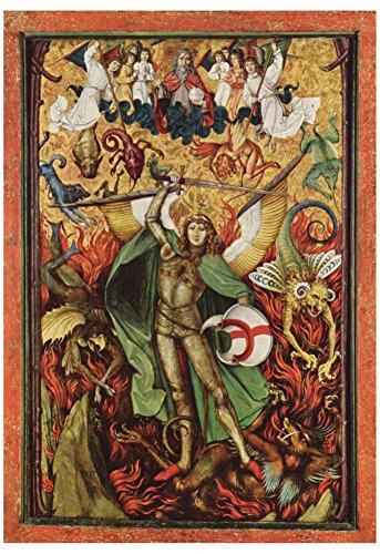 Hans Leu d. Ä. (The hellish fall, Archangel Michael in the battle with Lucifer) Art Poster Print 13 x 19in (Poster Michael Leu)