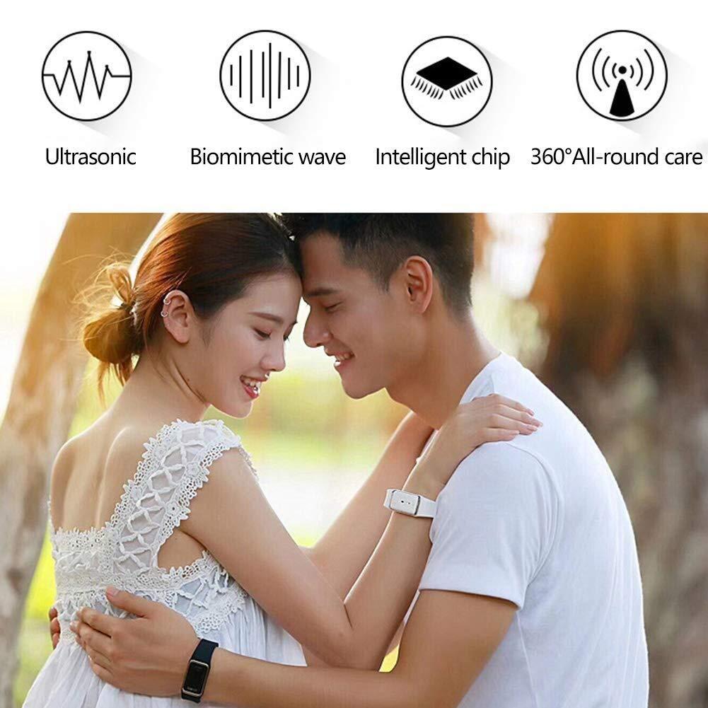 BovoYa Ultraschall M/ückenschutz Wiederverwendbares elektronisches M/ückenschutz-Armband Justierbares Campingzubeh/ör f/ür Kinder und Erwachsene