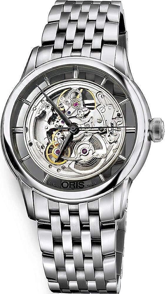 Oris Artelier Skeleton Dial Stainless Steel Mens Watch 01 734 7684 4051-07 8 21 77