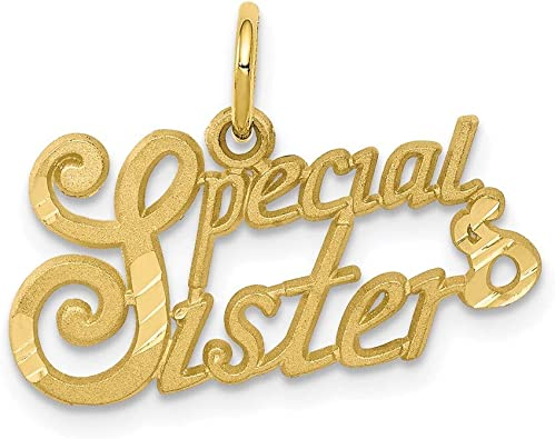 10k Yellow Gold 10k Special Sister Charm