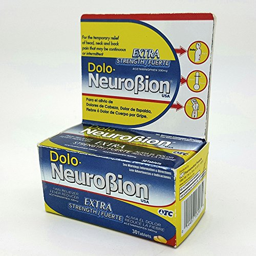 Dolo Neurobion 30 Tablets - Pain Reliever, Fever Reducer, Extra Strength, Fuerte, Alivia el Dolor, Reduce la Fiebre ()