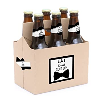 Amazon.com: Suit – hasta 6 Will You Be My Padrino Beer ...