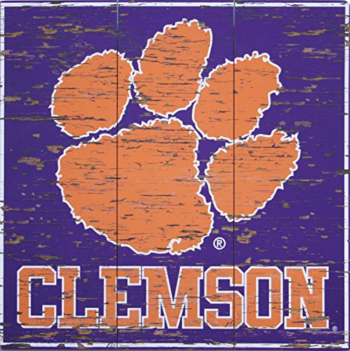 Clemson University Distressed Wood Sign