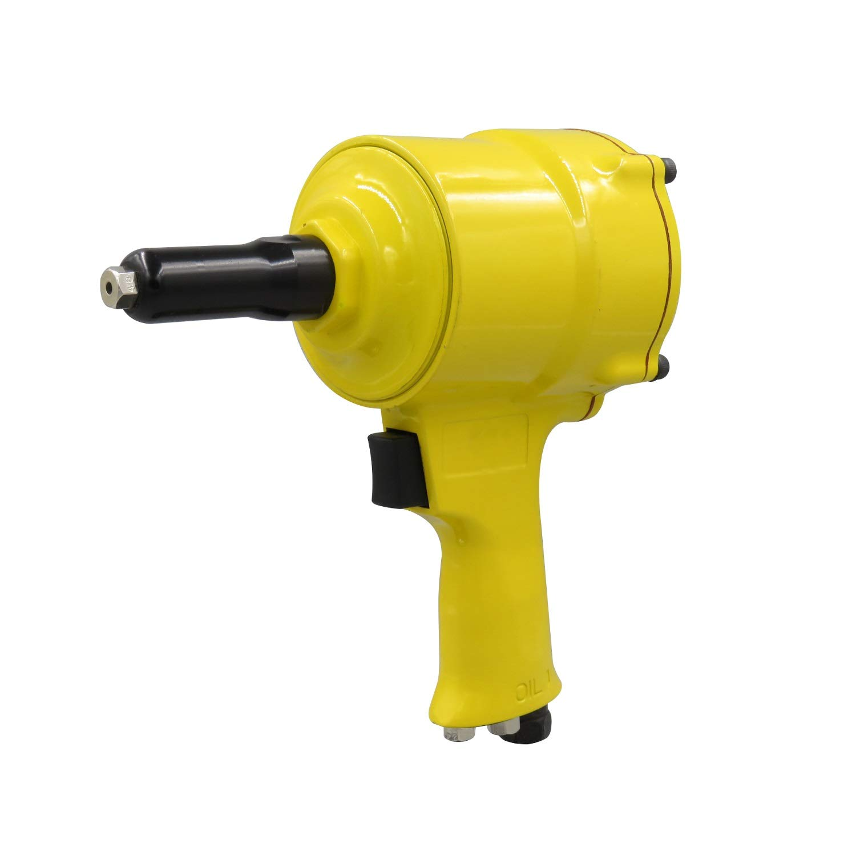 2.4-4.8mm Pneumatic Rivet Gun, Pistol Type Riveting Tool (Color : Yellow) by XIAOL-Pneumatic Tool