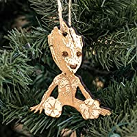 Ornament - Baby Groot - Raw Wood 3x3in