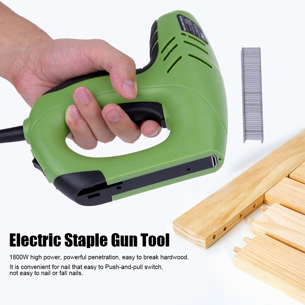 Electric Staple Gun Straight Dual Use Nail 10-14mm Code Nails 6-14mm Electric Staple Gun Straight Woodworking Tool
