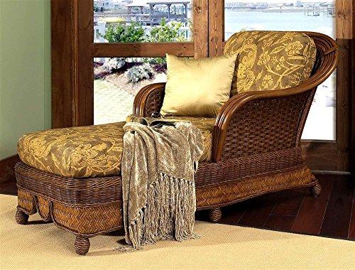 Boca Rattan Moroccan Chaise Lounge w Cushion w Urban Mahogany, 641 80650-OG-66186-O-253156, Brown (Boca Rattan)