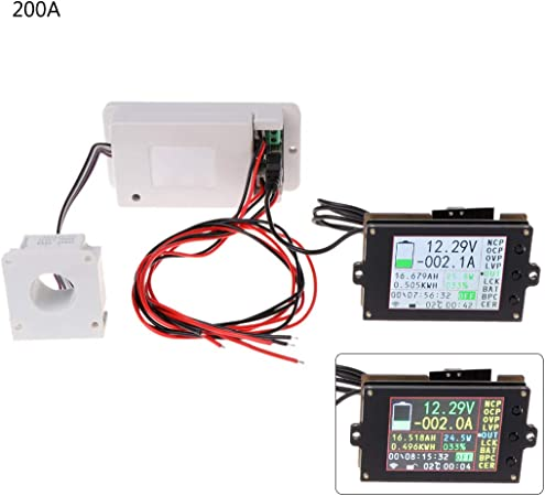 500V 200A wireless VOLT AMP temperature coulomb capacity power battery Monitor
