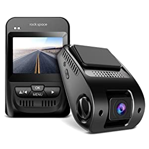"Dash Cam- 1080P FHD Car Camera 2.3"" LCD Screen 150°Wide-Angle Car DVR with Sony Image Sensor, WDR, HDR, G-Sensor, Super Night Vision, Loop Recording,Emergency Recording, Black"